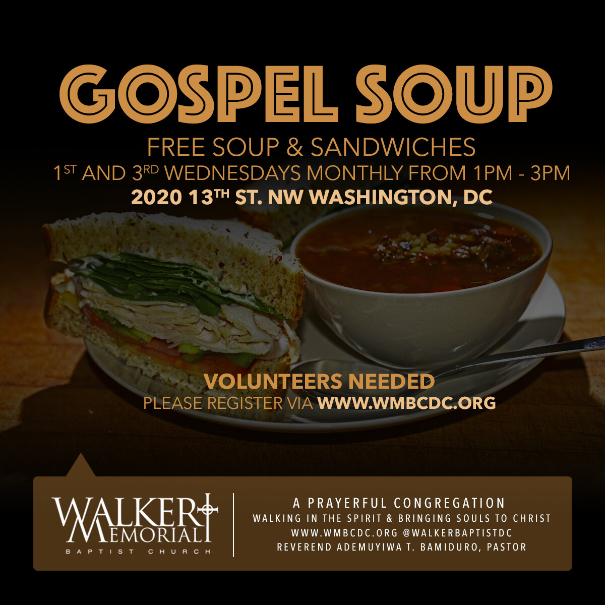 Gospel Soup: Free Soup & Sandwiches